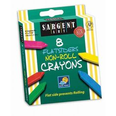 Best-Buy Crayon Assortments, Sargent Art®, Non-Roll Crayon Pack, 8 colors, SAR350591