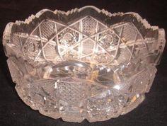 Vintage Czechoslovakian Queens Lace Crystal by LazyDogAntiqueStore