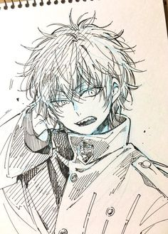I'm not the monster you think I am, I'm the monster you wanted me to be. Anime Boy Sketch, Anime Drawings Sketches, Art Drawings, Bakugou Manga, Manga Drawing, Anime Character Drawing, Character Art, Anime Poses Reference, Pretty Drawings