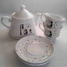 Love cat tea set Sugar Bowl, Tea Set, Bowl Set, Tea Sets