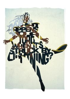 Storm typography print based on a quote from the movie X-Men
