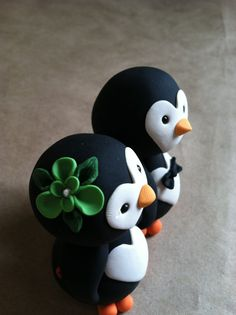 Penguin love Wedding Cake Topper US PENGUINS!!!!