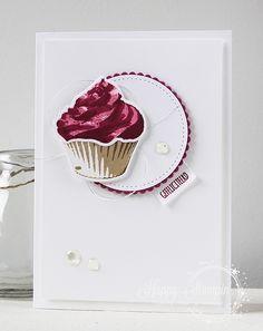 Stampin' Up! – Gefeliciteerd GDP096  Happy Stampin '- Sweet Cupcake