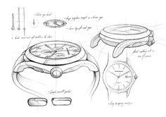 Click to Close Sketch Inspiration, Design Inspiration, Watch Drawing, Drawing Sketches, Drawings, Sketching, Sketch Design, Design Thinking, Emporio Armani