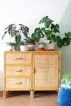 MY ATTIC SHOP / vintage / rotan / rattan / dresser / dressoir / boho / bohemian / jungalow style / plants / greens / planten Photography: Marij Hessel www.entermyattic.com