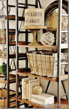 living-room-design-ideas-bookshelf  5 things every bookshelf needs. Thistlewoodfarm.com