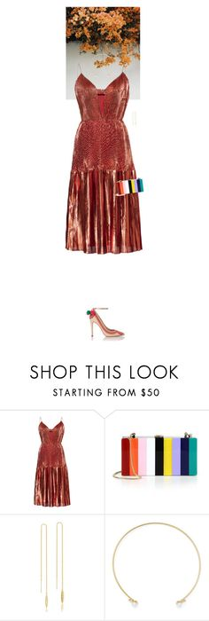 """Untitled #3445"" by wizmurphy ❤ liked on Polyvore featuring GET LOST, Burberry, Milly, Tacori, Gemma Crus and graduationdaydress"
