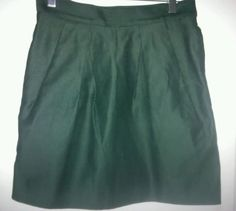 COS green pleated skirt size 38 (28'' waist) 100% cotton, casual denim skirt