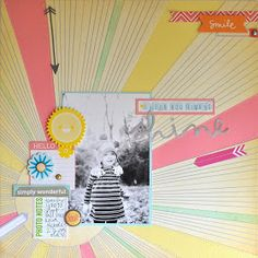 Hi there! Jennifer here with my first post for Scrapbook Circle. This month's kit - True Stories  - was awesome to work with! Bright color...