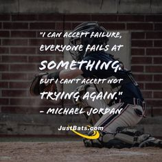 """""""I can accept failure, everyone fails at something. But I can't accept not trying again."""" - Michael Jordan     Pin and share with somebody who needs some motivation!"""