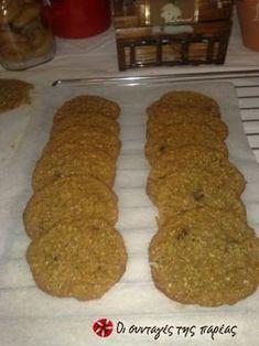 Πολύ εύκολα μπισκότα με μέλι, βρώμη και καρύδα