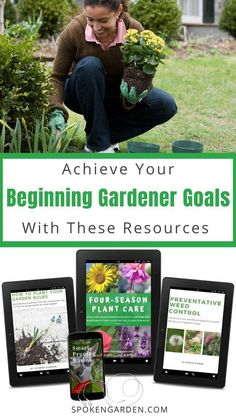 Kick off the new year by moving forward on your 2020 garden goals. This bundle of resources with help you improve your plant care knowledge including bulb planting basic pruning weeding and more! Winter Container Gardening, Indoor Gardening Supplies, Container Plants, Landscape Maintenance, Garden Maintenance, Garden Bulbs, Planting Bulbs, Garden Weeds, Balcony Gardening