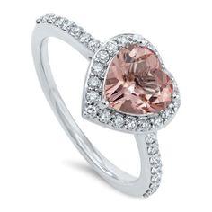 Cuore Rosa Diamantring
