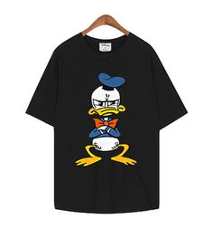 New Women Donald & Daisy Duck Character Graphic Cotton Cute T-shirt_5 Colors #MIRINE
