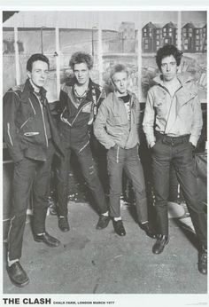 Long live The Clash! A great poster of Joe Strummer, Mick Jones, Paul Simonon, and Topper Headon in London in March 1977! Ships fast. 23x34 inches. Check out the rest of our great selection of The Cla