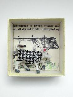 mano kellner, art box nr geringfügige abweichung I - sold - Handmade Headbands, Handmade Crafts, Handmade Rugs, Altered Tins, Altered Art, Tin Can Crafts, Paper Crafts, Shadow Light Box, Shadow Box