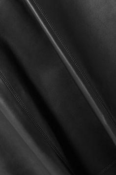 Black Wrap-effect leather midi skirt   Alaïa   NET-A-PORTER Leather Midi Skirt, Azzedine Alaia, Black Leather, Colours, Skirts, Skirt, Gowns