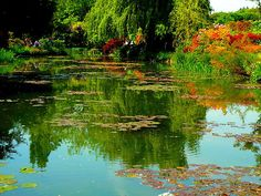 Lily Pond in Claude Monet's Garden in Giverny, France