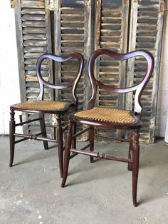 Two antique victorian balloon back chairs by VRevival on Etsy https://www.etsy.com/uk/listing/465358660/two-antique-victorian-balloon-back