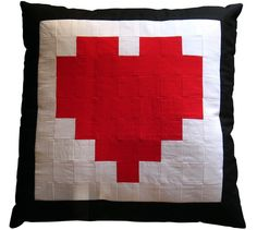 zelda heart pillow