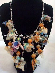 Fashion fabric flower jewelry