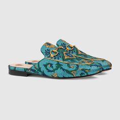 Gucci Princetown brocade slipper Detail 2