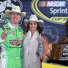 Huge congratulations to 2016 Duck Commander 500 winner, Kyle Busch and his wife Samantha! Rocking their Charlie 1 Horse hats after his win at the Texas motor speedway this weekend!#C1Hstyle  Shop Now>>>charlie1horsehats.com (Photo Credit:Getty Image)