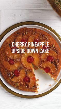 Sweet Recipes, Fun Baking Recipes, Cake Recipes, Dessert Recipes, Cooking Recipes, Just Desserts, Delicious Desserts, Yummy Food, Pineapple Upside Down Cake