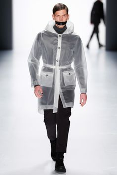 Daniel Blechmann has previously shown he is capable of sophisticated menswear, but his fall collection was a nice reminder of the label's street wear roots. [Photo by Frazer Harrison/Getty Images for Mercedes-Benz]