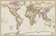 Wall Map of Antique Style World  by OutlookMaps from Maps.com. If you need an atlas, map or globe Maps.com can help. We are the World's Largest Map Store!