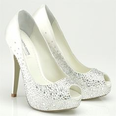 New Perry Benjamin Adams Crystal Wedding shoes - FREE SHIPPING  375.00