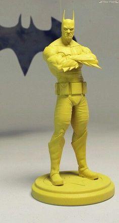3D printed yellow Batman.