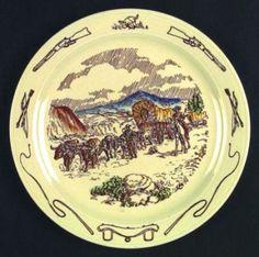Metlox, Frontier Days, dinner plate.