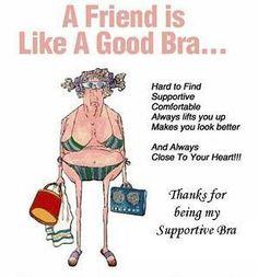 A friend is like a good bra... :o)