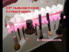 DIY Makeup Brush Drying Hanger - YouTube