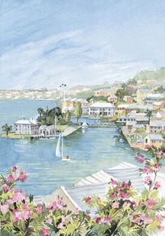 George's Harbor [Bermuda] by Carol Holding Paris Skyline, Dolores Park, St George's, Places, Outdoor Decor, Artwork, Artist, Thrift Stores, Latin America