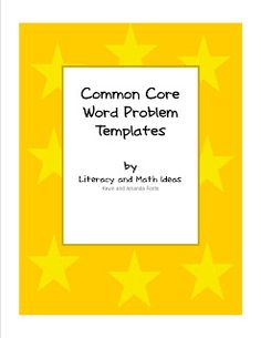 The Common Core Standards can be scary for some students. The free word problem templates can be used to make the word problems students. Sixth Grade Math, Fourth Grade Math, Second Grade, Teaching Math, Teaching Ideas, Creative Teaching, Math Problem Solving, Solving Equations, Math Classroom
