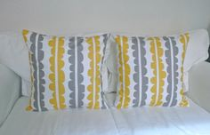 for the bed,, pops of yellow