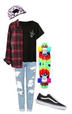 """Skater girl.."" by caroline-weaver on Polyvore featuring Topshop, Madewell and Vans"