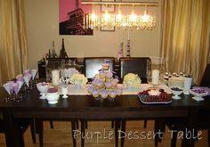 Purple desserts
