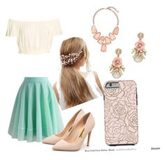 """""""Untitled #12"""" by gro0vykitten ❤ liked on Polyvore featuring ASOS, Chicwish, Rupert Sanderson and Kendra Scott"""