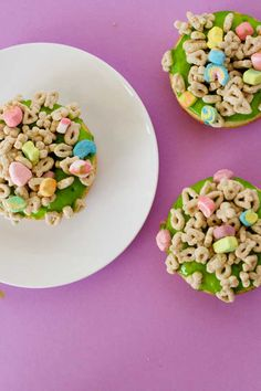 st patrick day recipes | Marshmallow Cereal Donuts