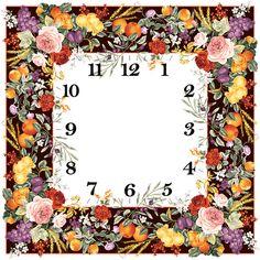 Flower Clock Face