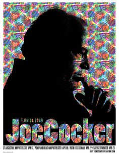 Gig Posters / Joe Cocker 2009 / Lure Design Poster Store