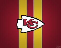 Kansas City Chiefs Striped Wallpaper
