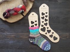 Wooden sock blockers / Hearts