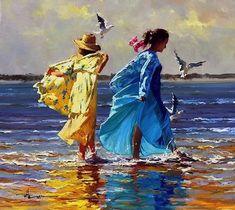 By Robert Hagan Impressionist artist Impressionism Art, Impressionist Paintings, Art Paintings, Contemporary Abstract Art, Human Art, Love Art, Online Art Gallery, Female Art, Amazing Art
