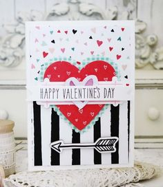 Happy Valentine's Day Card by Melissa Phillips for Papertrey Ink (January 2016)