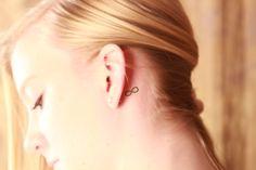 Infinity Tattoo Behind Ear   Tattoobite.com