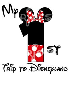 Minnie Mouse First Trip Disney DIY iron On by mrjoesprintables